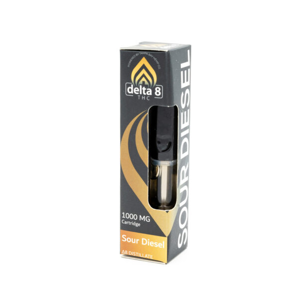 Delta-8 THC 1000mg Vape Cartridge - Sour Diesel Flavored Made by Tampa Bay Hemp Co