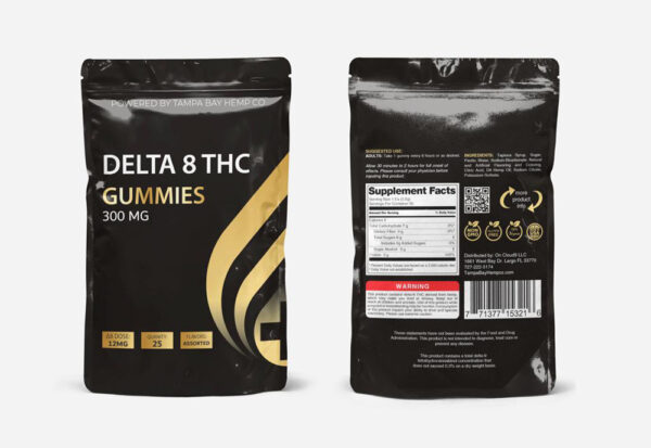 Delta-8 THC 300mg Gummies - Made by Tampa Bay Hemp Co